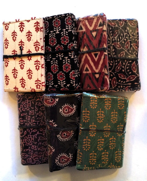 fabric covered journals with recycled cotton paper 4 x 6