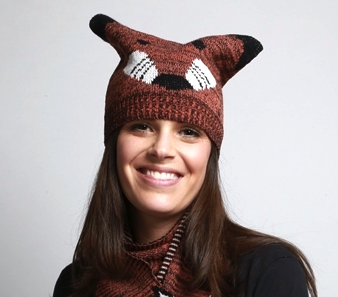 Recycled cotton Fox Knit Hat - Upland Road