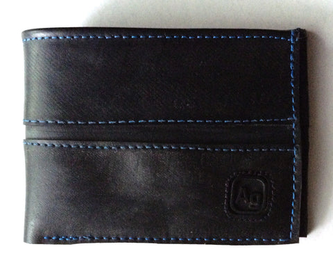 Franklin wallet, recycled innertubes, marine blue, by Alchemy Goods at Upland Road