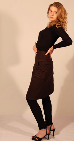 Gaya Organic Cotton Skirt - Java, Lombarde Organic Cotton Top, Ebony Ballerina ORganic Cotton Leggings.