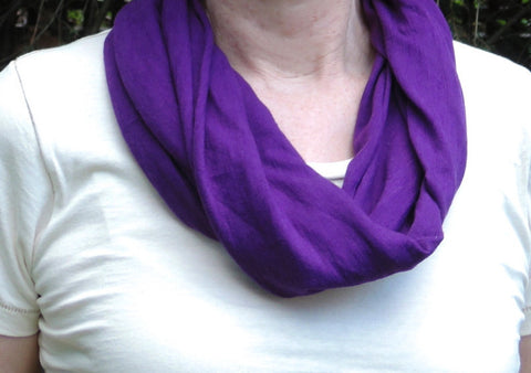 Organic Cotton Infinity Scarf - Grape Marl Upland Road