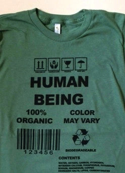 Human Being Shirt for Men, Organic cotton, made in USA