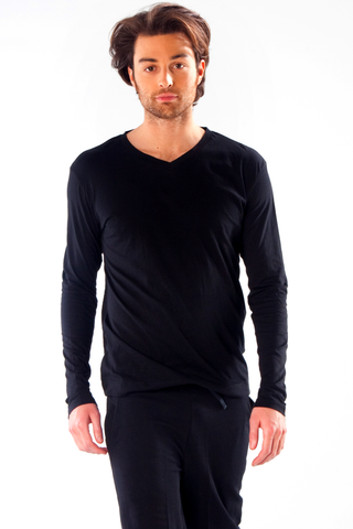 Organic cotton long-sleeved t-shirt for men