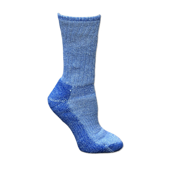 Blue Organic Wool Killington Hiking Sock by Maggie's Organics