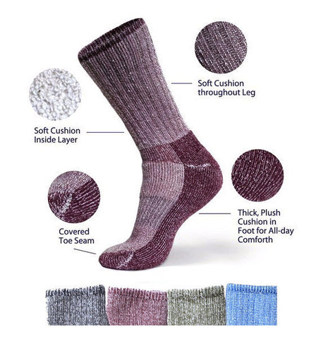 Killington Organic Merino Wool Socks in 4 colors