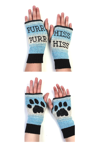 Kitty Paw Recycled Cotton Handwarmers
