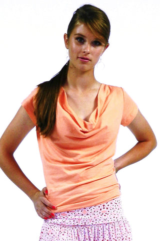 Organic cotton shirt for women, Lavandine top salmon