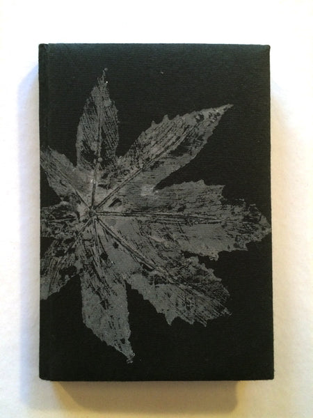 Leaf print journal with recycled cotton pages - Upland Road