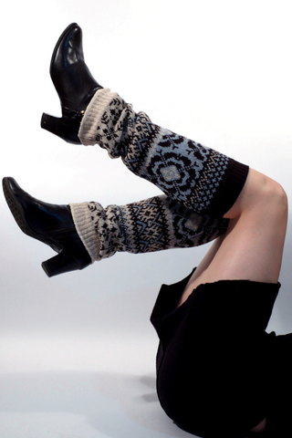 Upcycled cotton leg warmers