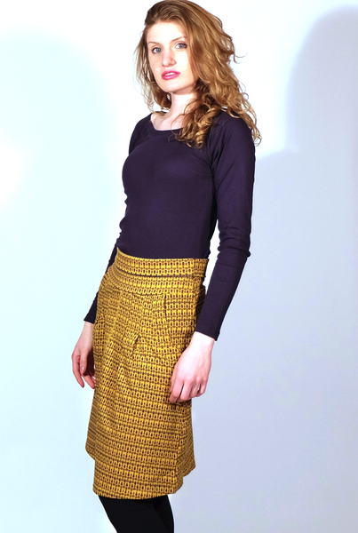 Gaya 100% Organic Cotton Skirt, Baroque Print