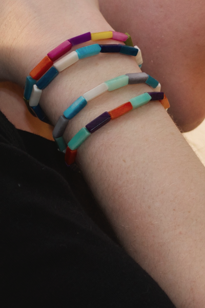 Sustainable Jewelry - Colorful Tagua Nut Bracelets