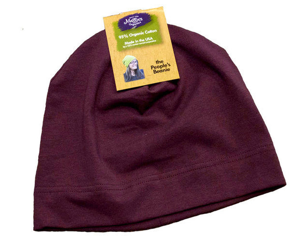 Marsala organic cotton hat by Maggie's Organics