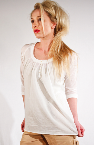 May Top, Organic Cotton blouse fair trade, Ethos Paris