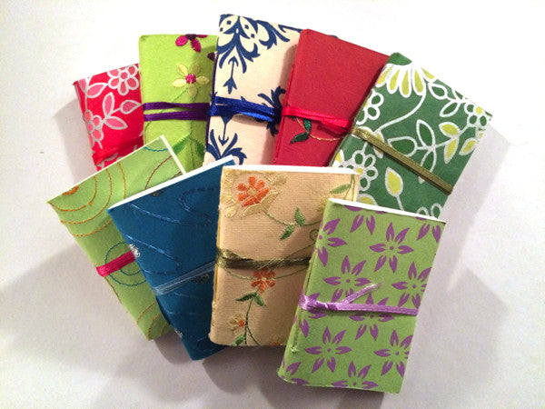 Mini screen printed journal with recycled cotton pages - Upland Road
