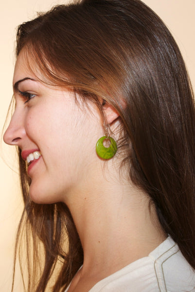 Tagua Nut Earrings - Eco-friendly jewelry