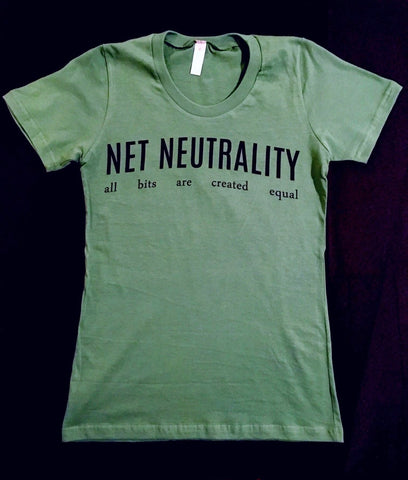 Net Neutrality Women's 100% Organic Cotton T-shirt - in Atlas Green