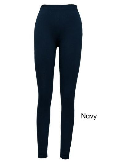 organic cotton leggings navy blue, ankle Maggie's Organics