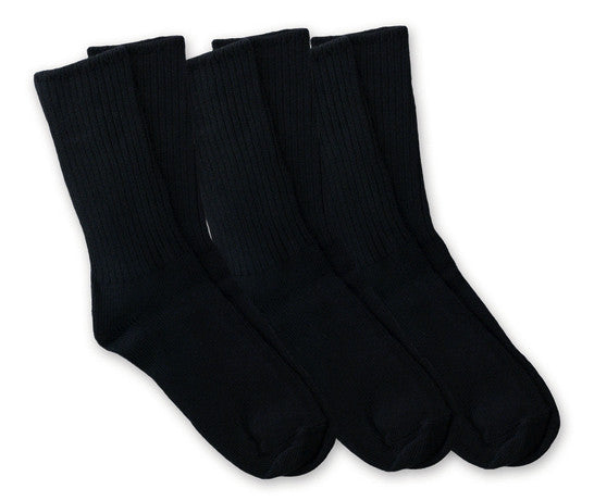 Organic cotton Crew Socks, Maggie's Organics, Black tri-pack