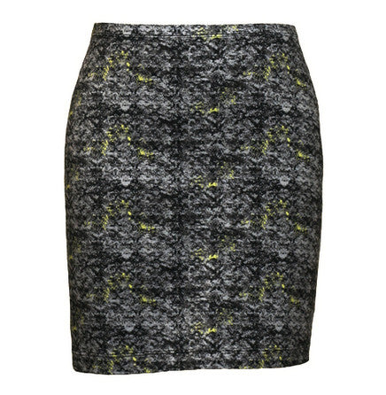 Grey Print Organic Cotton Mini Skirt, Maggie's Organics | Upland Road