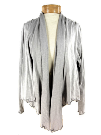 Organic cotton Metro Cardigan Wrap, Light Grey