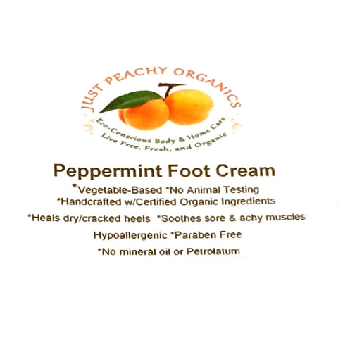 100% Organic Peppermint Foot Lotion Cream