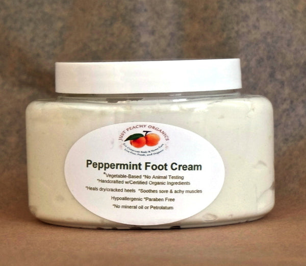 100% Organic Peppermint Foot Lotion, eco-friendly lotion