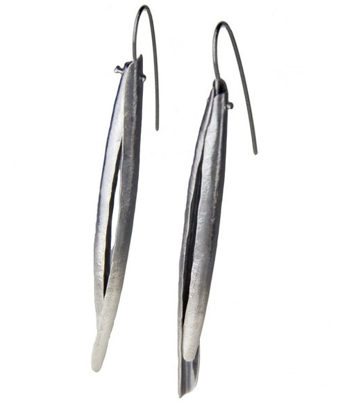 Sophie Hughes Jewelry, Razor Clam Recycled Silver Earrings