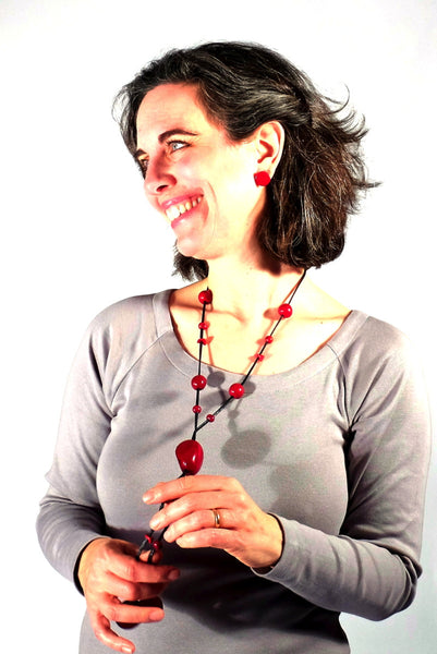 Eco-friendly accessories, Tagua Nut Necklace, Lariat