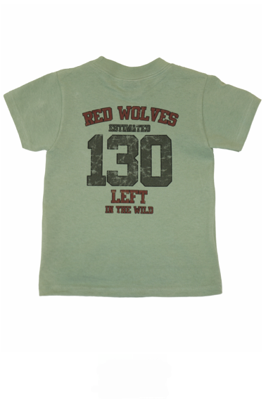Red Wolves Kids' Tee - Organic Cotton
