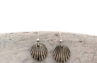 Sustainable Silver Seashell Earrings, Eco-friendly Jewelry