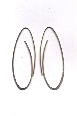 Endless Hoop Earrings by Sophie Hughes Jewelry from Recycled Silver