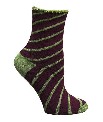 Snuggle Candy Striped Organic Wool Socks, Sustainable Socks