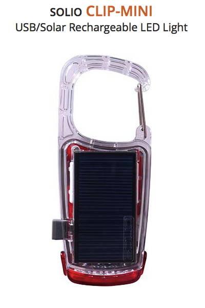 Clip Mini Solar Flashlight | Upland Road