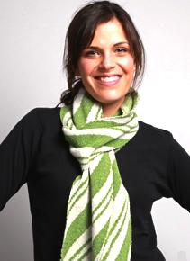 Spearmint Candy Cane Striped Scarf
