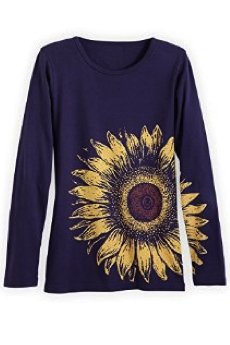 Sunflower long-sleeved Women's Shirt, organic cotton