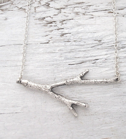 Twig Necklace - recycled silver | Upland Road sustainable jewelry