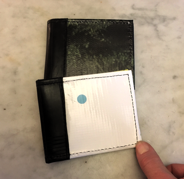 Bellevue Wallet - Made from Advertising Banners & Innertubes