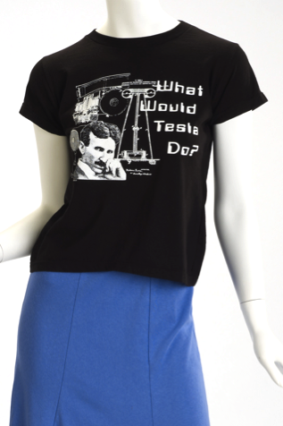 Nikola Tesla T-Shirt for Women - Organic Cotton - What Would Tesla Do?
