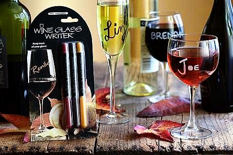 Wine Glass Writer 3-pack: Gold, Green, Silver