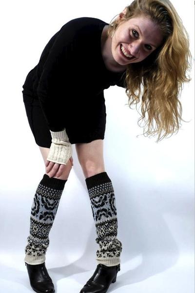Upcycled Cotton Leg warmers, Eco-friendly accessories