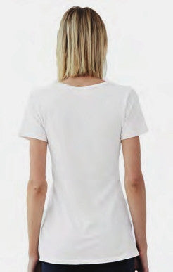 Women's Vee Organic Cotton by Groceries Apparel-Back