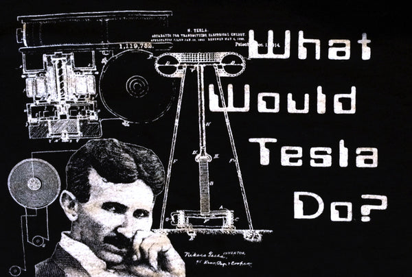 Nikola Tesla Tshirt What Would Tesla Do? Organic Cotton T-shirt for Men