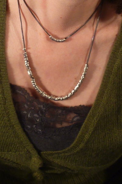 XLong Links Necklace Recycled Silver by Sophie Hughes Jewelry