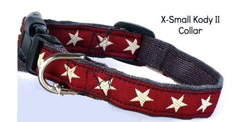 Hemp Decorative Extra Small Collar Kody II Red by Earthdog