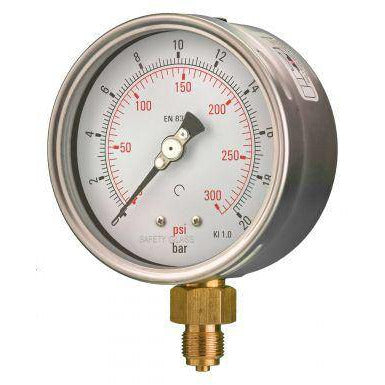 100mm Bottom Entry Industrial Pressure Gauge - GNW Instrumentation
