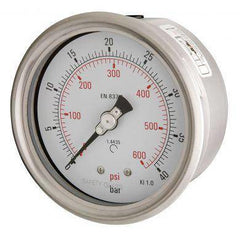 100mm Back Entry All Stainless Steel Pressure Gauge - GNW Instrumentation