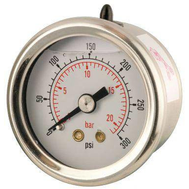 40mm Back Entry Glycerine Filled Pressure Gauge - GNW Instrumentation