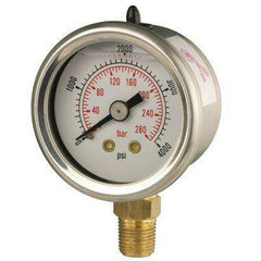 40mm Bottom Entry Glycerine Filled Pressure Gauge - GNW Instrumentation