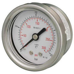 50mm Back Entry All Stainless Steel Pressure Gauge - GNW Instrumentation