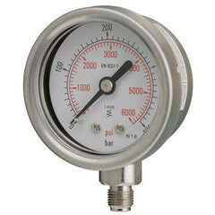 50mm Bottom Entry All Stainless Steel Pressure Gauge - GNW Instrumentation